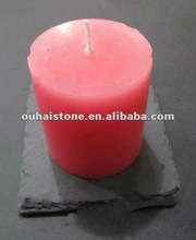 slate stone candle holder black candle stand