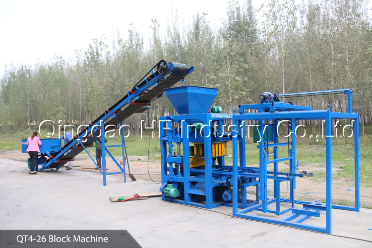 QT4-26 widely used concrete block making machine for sale in usa block making machine price
