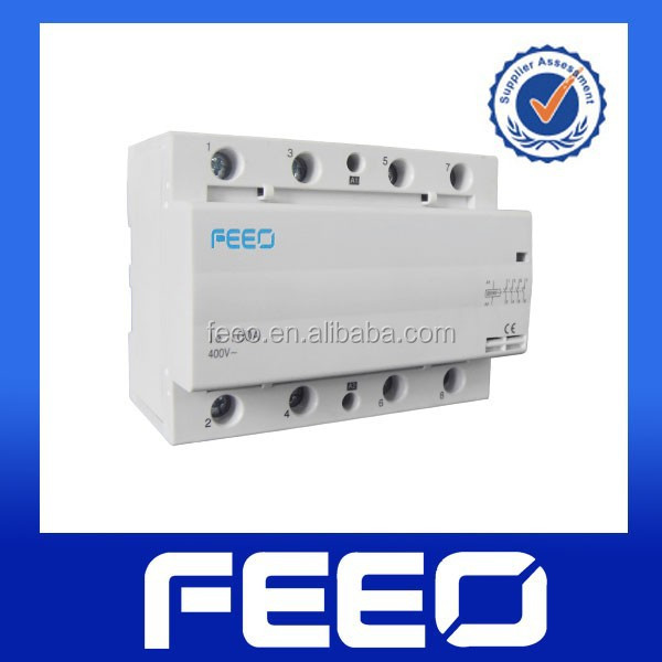 4p 230v Miniature DIN Rail Mounted modular contactor 100a electrical contactor