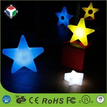 star Shape Multi-Color LED Light Nightlight Night Changing Mood Flashlight Bar Table Lamp
