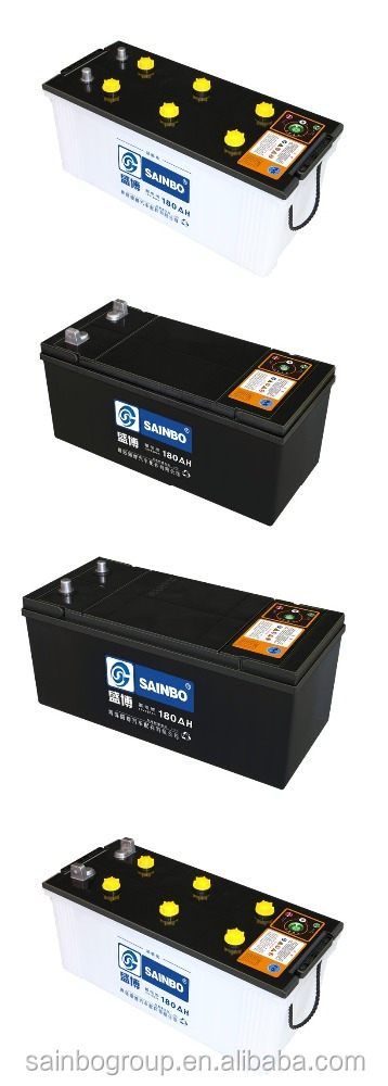 High Quality Factory supply user safety car Dry charge battery 12v180A