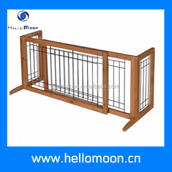 Professional Factory Top Quality Luxury Wooden Pet Gate