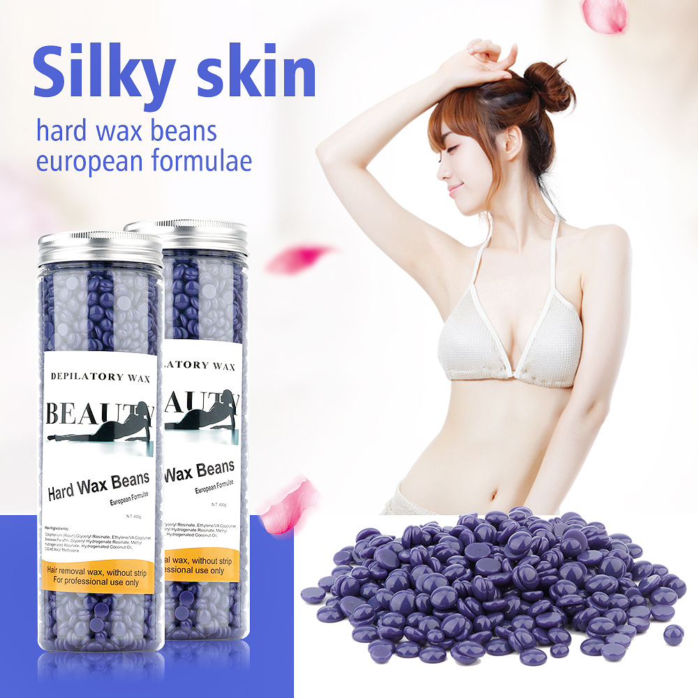 Less pain Hard Wax Beans No Strip Depilatory Hot Film Hard Wax Pellet Waxing Bikini Hair Removal Bean Chamomile Flavor
