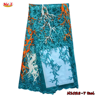 Embroidery Sequin Lace Fabric For Girls N1028