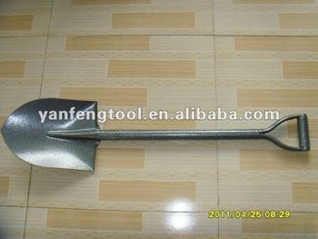 all steel black/silver stone point shovel spade