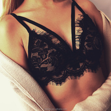 2017 new style fashion <strong>sexy</strong> black lace hollow-out bralette lingerie woman <strong>underwear</strong>