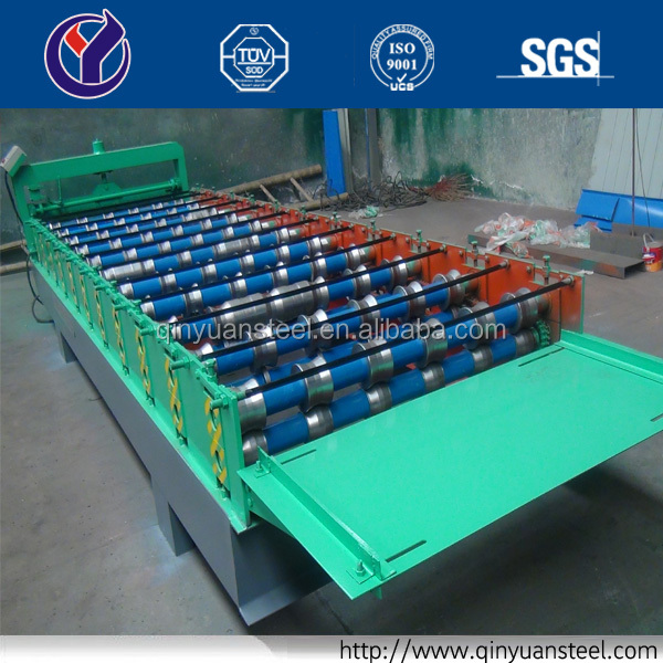 Qinyuan High Speed Roll Forming Machine Prices, Roof Tile Roll Forming Machine, Roof Sheet Tile Roll Forming Machine