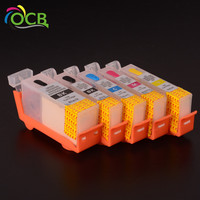 ocbestjet Refillable ink cartridge japan pgi 550 cli 551 pgi 650 cli 651 pgi 750 cli 751 for canon with auto reset chip
