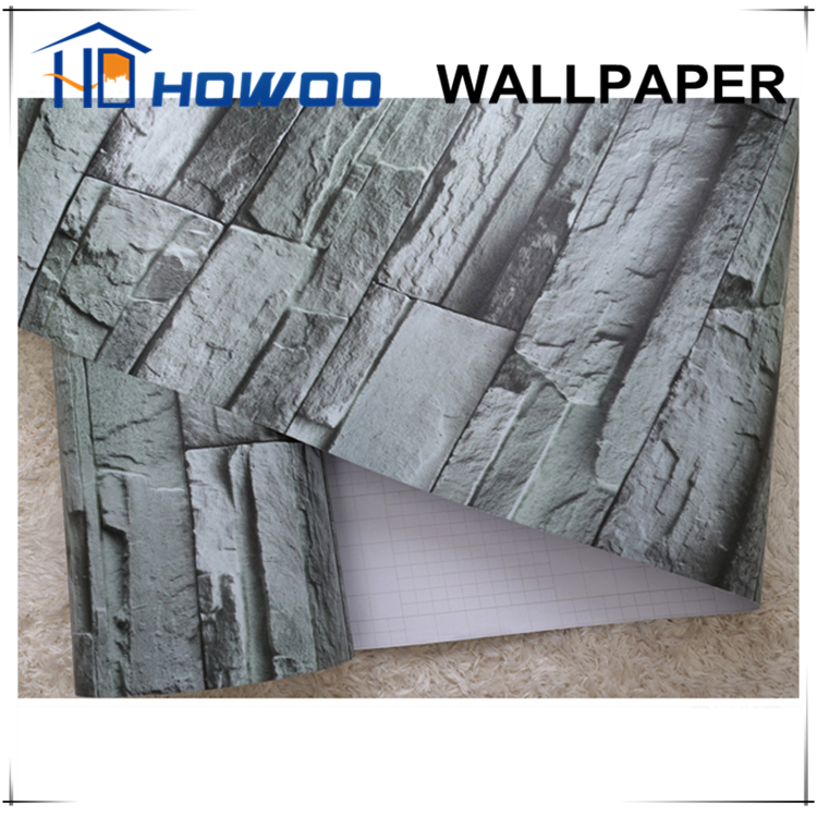Howoo self adhesive pvc wallpaper film 3d wallcovering for 3d self adhesive wallpaper