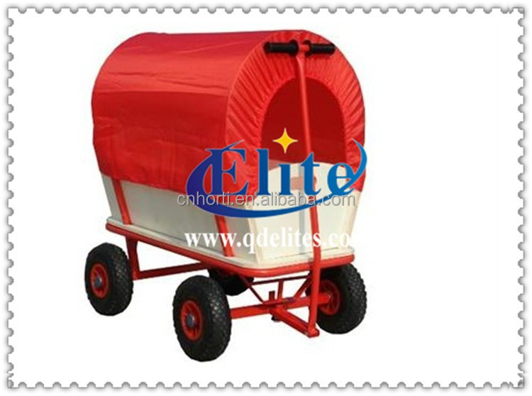 hot sale wood foldable children wagon trolley cart
