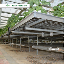 Rolling benches greenhouse growing Ebb and flow benches
