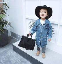 Hu Sunshine 1-8 years Wholesale Child Clothes New 2018 Spring Denim Kids Boys Girls Coats (pick size)126TP0104