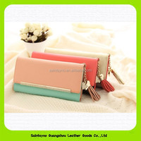15438B Colorful beautiful cheap wholesale leather lady wallet,trendy ladies hand purse,pu leather women wallet