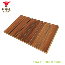 Factory price 24 slots beleved painted v groove indoor wooden flooring mdf panels Red Kapok