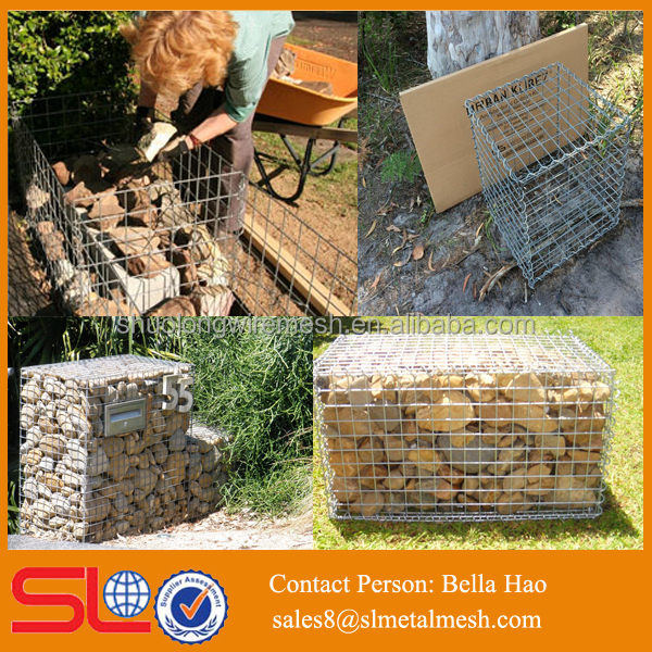 gabion walling caged rock retaining wall wire basket for wall