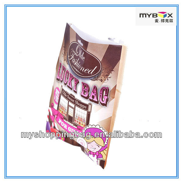 Fancy colorful kraft paper bag lucky bag