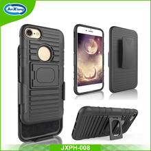 Factory price pc tpu hybrid combo holster shockproof case for iphone 7 7 plus