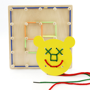 multi-functional board rope game make any shape educational wooden