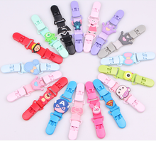 2017 New product carton silicone handkerchief clip pacifier holder baby pacifier clip