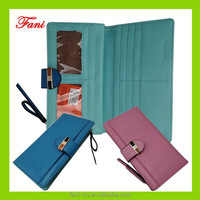 Newest design high quality pu leather / genuine leather wallets for ladies