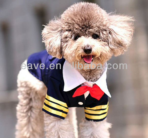 C1014 Dog Feet Vest Spring and Summer pet cleaning cloth Dog Navy Suit