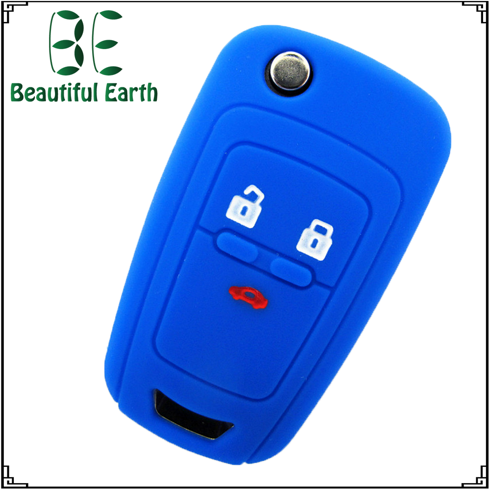 3D silicone rubber car key covers silicone key protector for Chevrolet