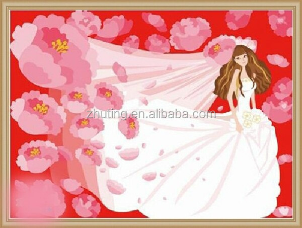 2015 hot sale wholesale handmade Wedding DIY oil painting