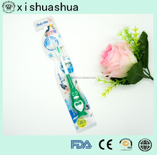 hot sale high quality soft blister own design Animal kid toothbrush