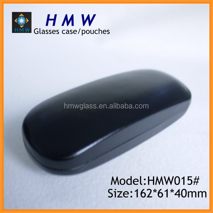 Black PU reading glasses cases,PU hard eyewear case