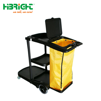 multi-purpose hotel cleaning trolley