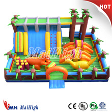 High quality Jurassic/jungle/dinosaur/airplane giant inflatable playground for park