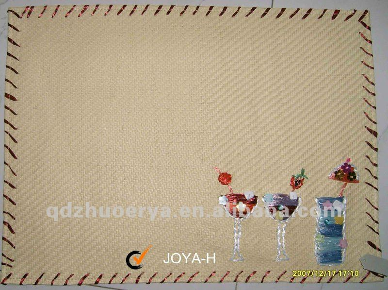 natural material crochet handmaded straw placemat
