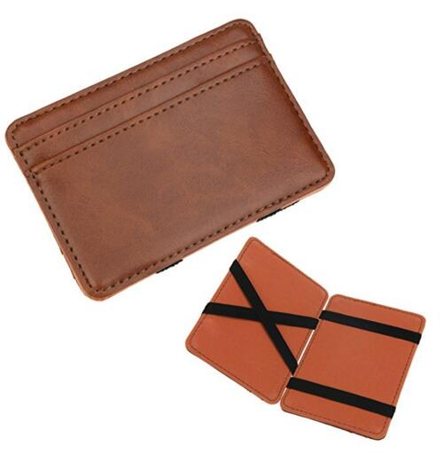 Genuine Leather Men's The Magic Wallet and Credit & ID Case Holder