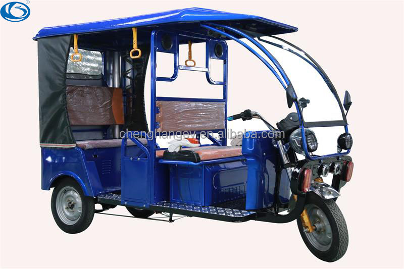 Indian bajaj auto Electric Rickshaw for Passenger Open Body