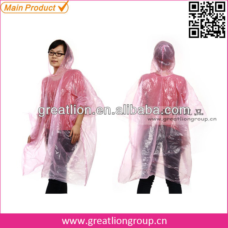 Promotion cute rain poncho for women