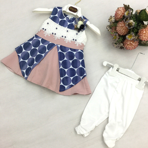 Wholesale Elegant children clothes set dress kid Party Wear