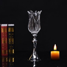 factory wholesale all kinds of clear glass candle holder ideas