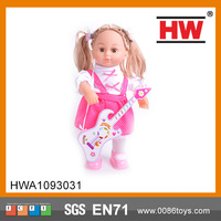 Most Popular 16 inch Baby Girl Doll with Guitar Sound control baby alive doll toy
