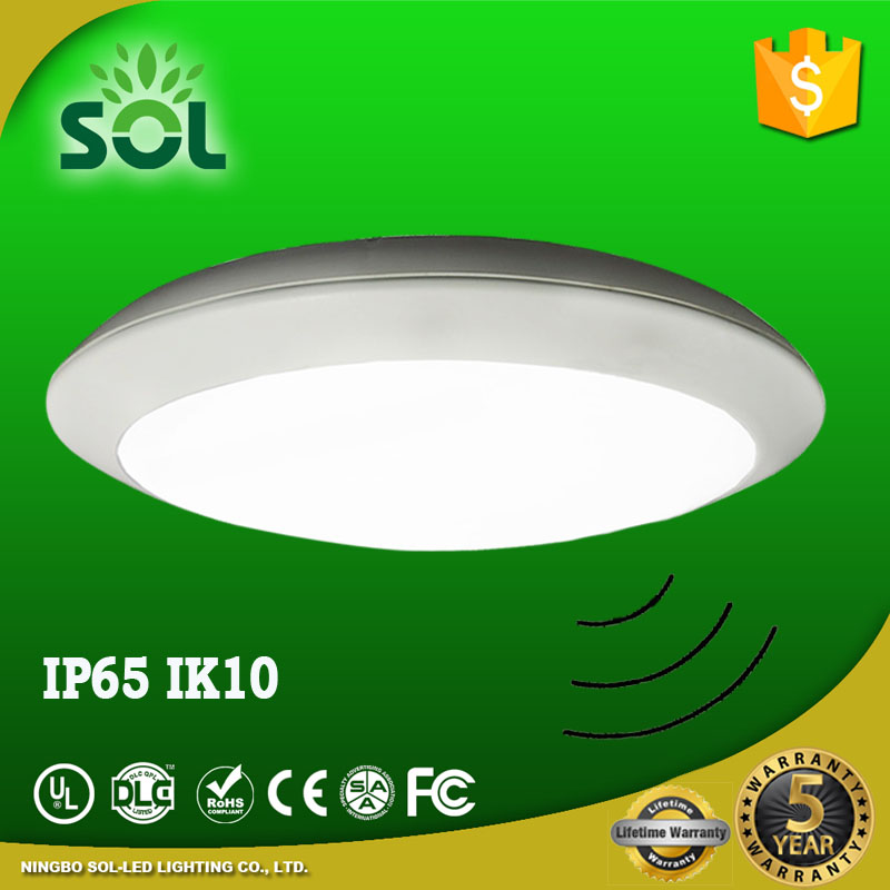 IP65 surface mounted led ceiling light ,led microwave sensor ceiling light,round ceiling led 15 watt for shower