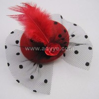 Supply children's feathers party hat hair clips hair accessories wholesale china