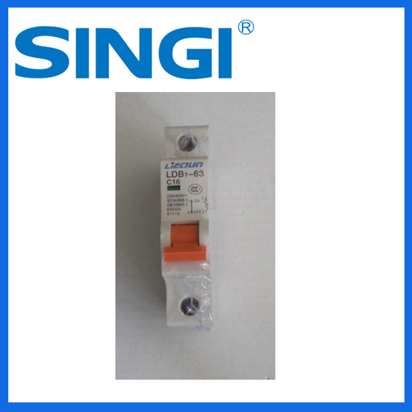 high quality c16 miniature circuit breaker mcb with CE and CB CHNT parts supplier