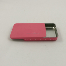 small rectangular slide tin box for mints and sweets