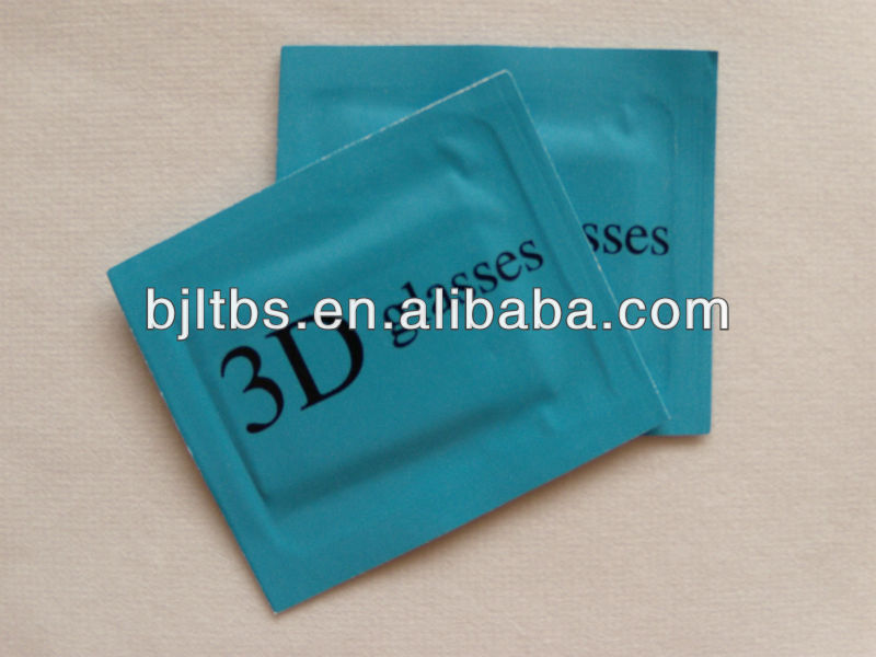 exclusive use 3Dglasses cleaning single wet wipes