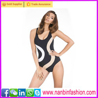 Wholesale black and white one piece sexy women bikini swimwear
