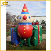 Outdoor giant inflatable clown and gift model, inflatable promotional model, China inflated type replica