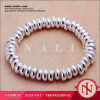 Fashion Cheap Newest Abacus Beads 925 Stering Plated Silver Jewelry Bracelet LKNSPCH053