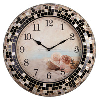 Customizable novelty craft wooden painting wall clock kits to assemble