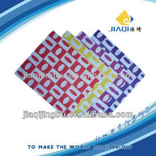 eyeglasses cleaning cloth with one color silk-screen printing