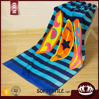 Wholesale high quality 100% cotton custom printed beach towel