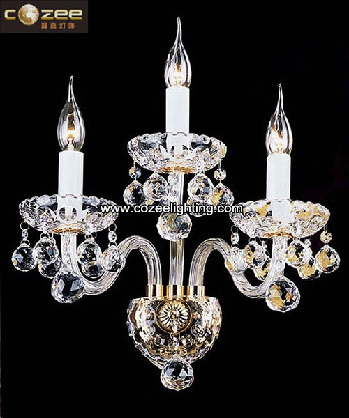 Crystal Wall Sconces K9 Chandeliers Wall Lamp Wall Light /Lighting paypal Lamp Fixture CZ001/3
